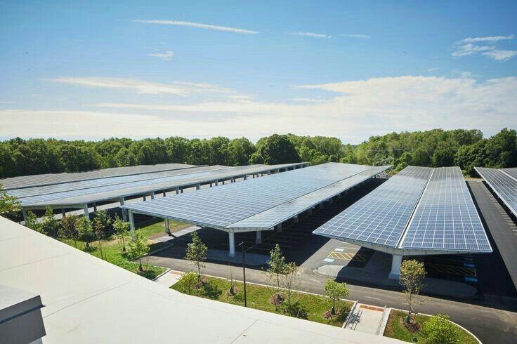 Năng lượng mặt trời - Mái nhà xe